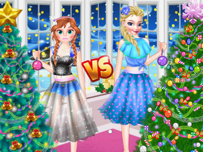 Ellie VS Annie Christman Tree!