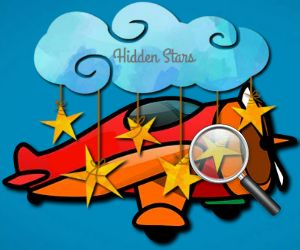 Cartoon Airplains Hidden Stars