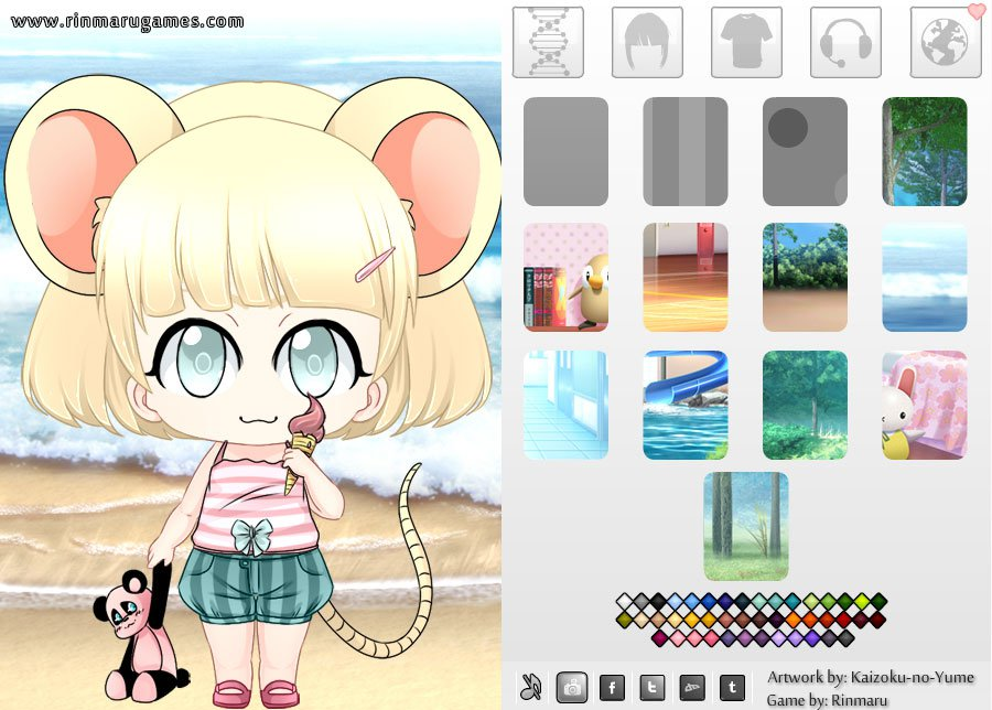 Kemonochibi dress up game