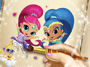 Shimmer and Shine Coloring ...