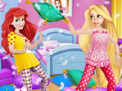 Vestir princesas en pijamas