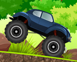 The feisty beetle truck is ready for a rock-climbing challenge, so jump behind the wheels of the cute but strong truck and enjoy the ride along the steep and bumpy roads ahead.