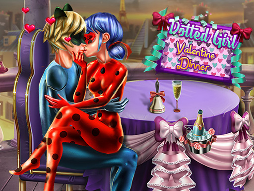 Dotted Girl Valentine Dinner
