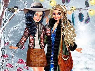 Prenses Giyim Boho Kış Stili