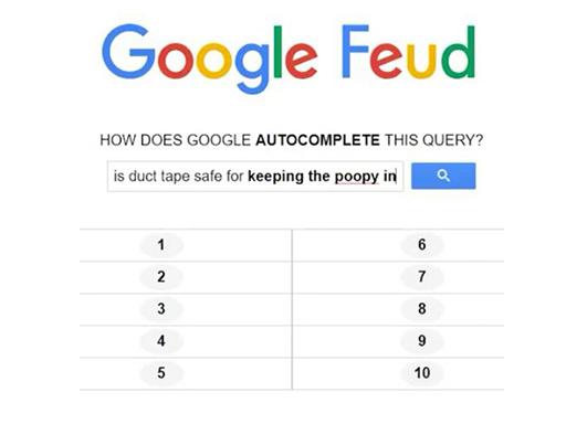 Google Feud online hra
