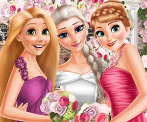 Elsa Ve Prensesler Düğün Elbisesi Puanlı