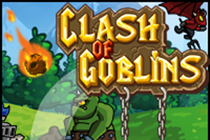 A great Shooter game, Fight with thousands of enemies and defend the kindom of the monsters, Earn money and buy upgrades, upgrade your kingdom over 30 differentes upgrades and conquist the world of Clash of goblins
