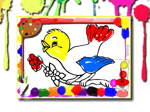 Birds Coloring Book