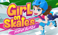 Girl on Skates: Paper Blaze online hra