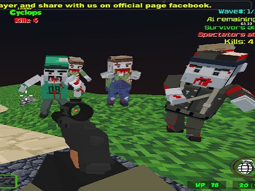 Blocky Combat Strike Zombie Survival