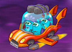 Help brave Jellydad to save his family from Space Pirates!