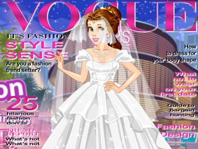 Vestir princesas para revistas