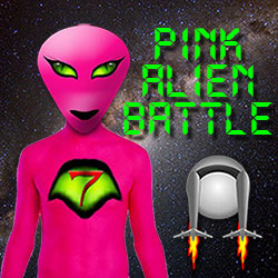 Pink Alien Battle