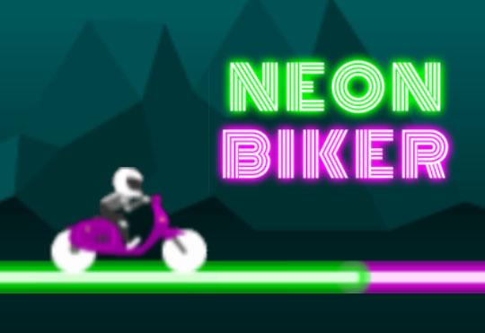 Neon Biker by OrangeGame…