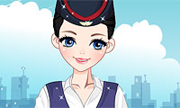 Stewardess Dress-Up Game