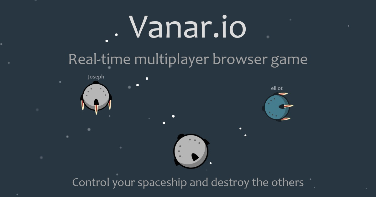 Realtime multi playergame, be commander your ship and destroy the others