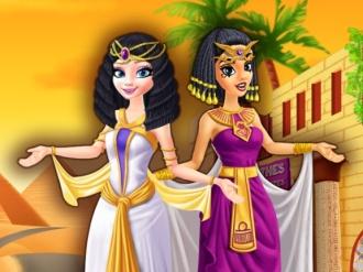 Mısırda Elsa ve Jasmine Alışveriş Oyunu