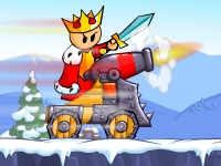 The King is fed up of all of this kingdom crap. He is ready to make it to paradise. He has prepared his battle kart and is ready to fight through all stages. See if you can help him escape his kingdom and make it to paradise.