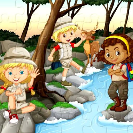 Camping Kids Jigsaw