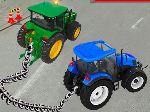 Chained Tractor Towing ...
