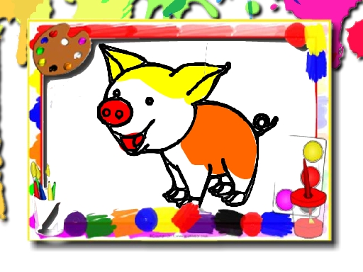 Pigs Coloring Book