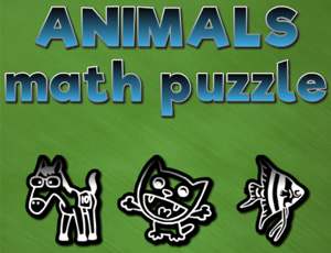 Animals math puzzles online hra