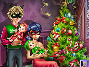 Dotted Girl Family Christmas online hra