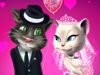 Talking Tom and Angela Wedding Party