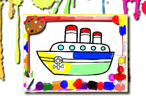 Boats Coloring Book online hra