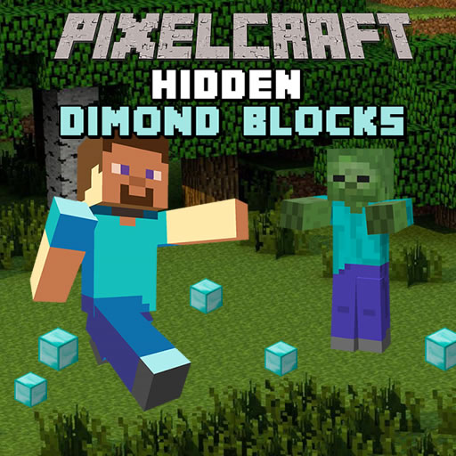 Pixelcraft Hidden Diamond Blocks
