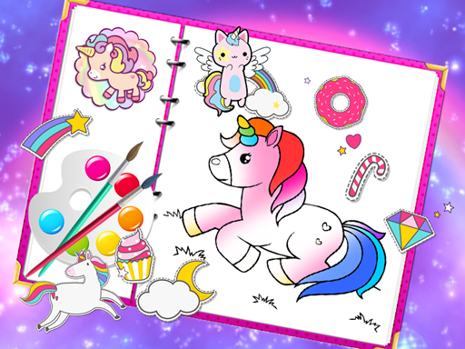 Fabulous Cute Unicorn Coloring Book online hra