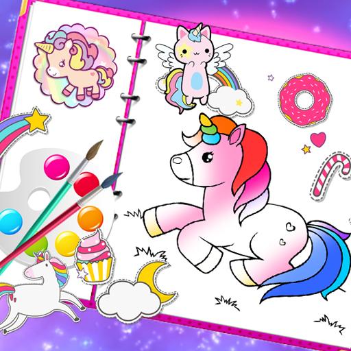 Fabulous Cute Unicorn Coloring Book