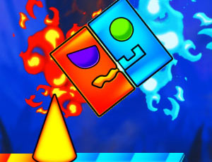 Fire And Water Geometry Dash online hra