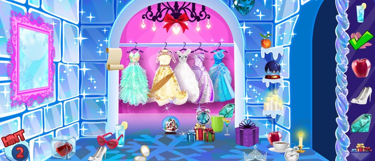 Princesse de glace objets cachés