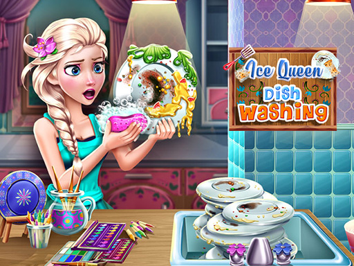 Ice Queen Dish Washing online hra