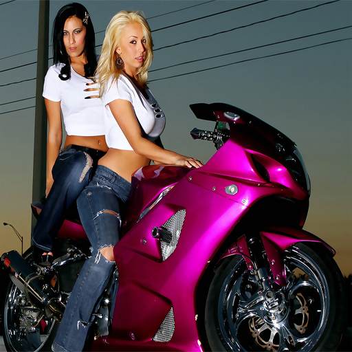Motorcycle and Girls Slide 2