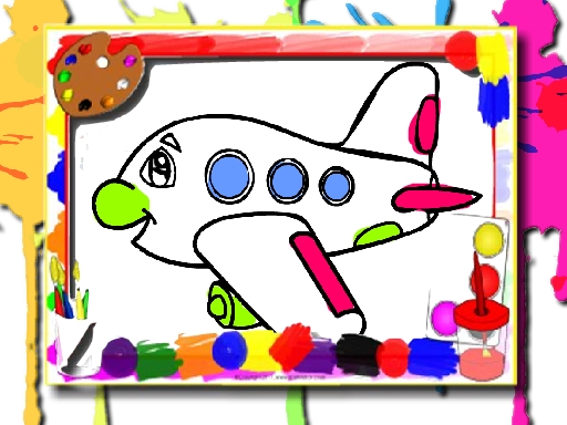 Airplane Coloring Book online hra