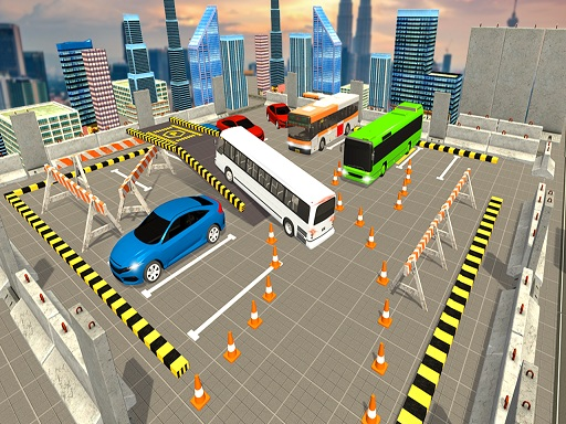 American Tourist Bus Simulator : Bus Parking 2019