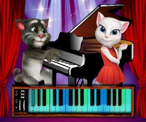 Talking Tom Piano Time online hra