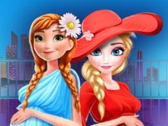 Elsa and Anna Pregnant Mall Shopping