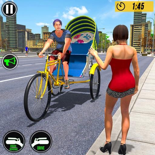 Bicycle Tuk Tuk Auto Rickshaw New Driving Games