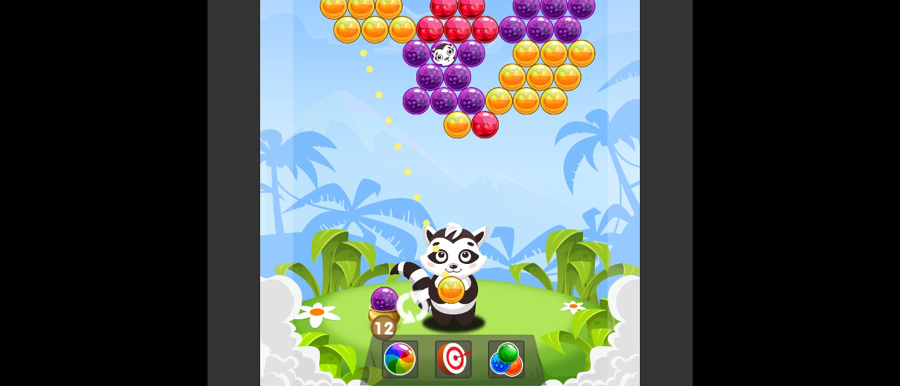 Bubble Shooter Raccoon