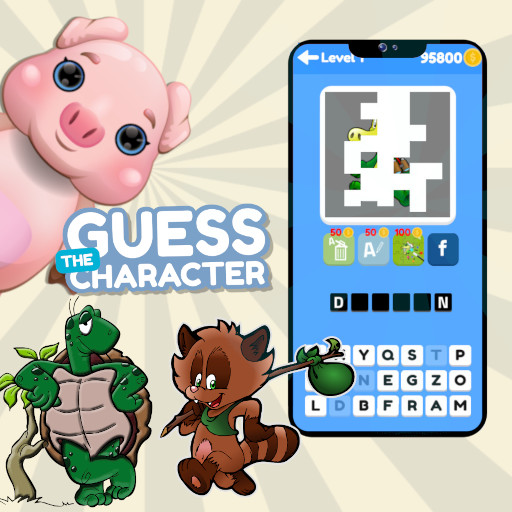 Guess the Character Word Puzzle Game