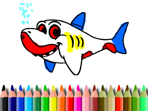 BTS Shark Coloring Book
