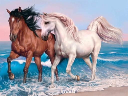 Animals Jigsaw Puzzle Horses