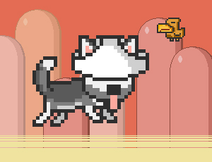 MR JUMP HUSKY online hra