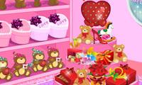 Saint valentin store décoration