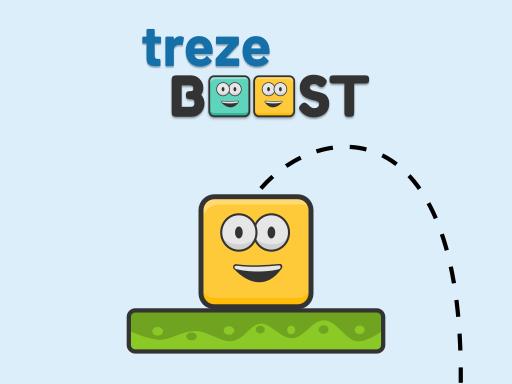 特雷茲移動方塊--trezeBoost-您必須使用Boost從平台跳轉到平台。但要小心,因為如果你錯過了跳躍並跌倒你的分數將被歸零!來挑戰看看吧!
