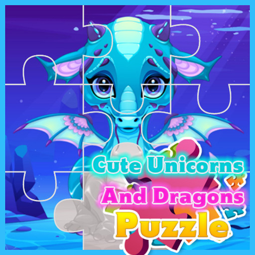 Cute Unicorns And Dragons Puzzle