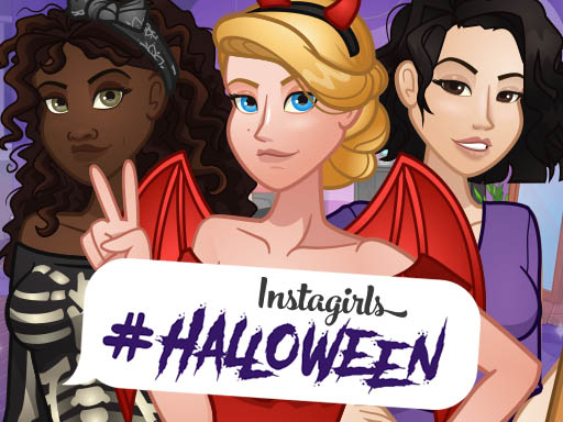 Instagirls Halloween Dress Up game